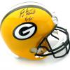 """Brett Favre Signed Green Bay Packers Riddell Full Size NFL Helmet with """"4 Retired 7/18/15"""" Inscription - LE #1 of 44-0"""