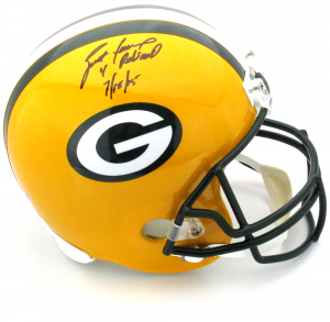 """Brett Favre Signed Green Bay Packers Riddell Full Size NFL Helmet with """"4 Retired 7/18/15"""" Inscription - LE #44 of 44-0"""