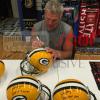 """Brett Favre Signed Green Bay Packers Riddell Full Size NFL Helmet with """"GBP HOF 2015"""" Inscription-5478"""