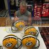 "Brett Favre Signed Green Bay Packers Riddell Full Size NFL Helmet with ""Hall of Fame 2016"" Inscription - LE #1 of 444-9357"