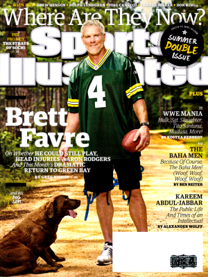 "Brett Favre Signed Green Bay Packers Sports Illustrated ""Where Are They Now?"" Issue …-0"