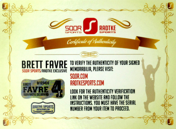 """Brett Favre Signed Green Bay Packers Riddell Full Size NFL Helmet with """"4 Retired 7/18/15"""" Inscription - LE #1 of 44-4120"""