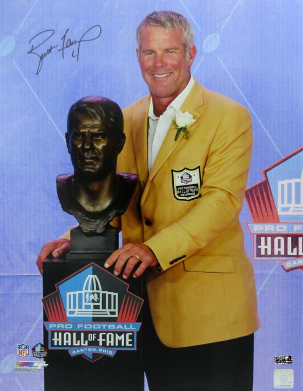 Brett Favre Signed Green Bay Packers Hall of Fame Speech 16x20 Photo-0