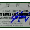 Brett Favre Signed Green Bay Packers Hall of Fame Lambeau Field Viewing Ticket-0