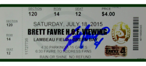 Brett Favre Signed Green Bay Packers Hall of Fame Lambeau Field Viewing Ticket-0