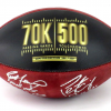 Brett Favre & Peyton Manning Signed Wilson Authentic 70K Yards & 500 TDs NFL Football with Yardage & TD Inscription LE #144 of 150-8364