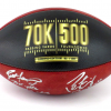 Brett Favre & Peyton Manning Signed Wilson Authentic 70K Yards & 500 TDs NFL Football with Yardage & TD Inscription LE of 150-8353