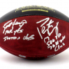 Brett Favre & Peyton Manning Signed Wilson Authentic 70K Yards & 500 TDs NFL Football with Yardage & TD Inscription LE #4 of 150-8343