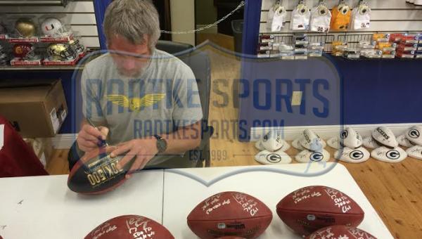 Brett Favre & Peyton Manning Signed Wilson Authentic 70K Yards & 500 TDs NFL Football with Yardage & TD Inscription LE #4 of 150-8342
