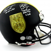 Brett Favre & Peyton Manning Signed Riddell Black Authentic 70K Yards & 500 TDs NFL Helmet with Yardage & TD Inscription LE of 150-0