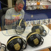 Brett Favre & Peyton Manning Signed Riddell Black Authentic 70K Yards & 500 TDs NFL Helmet with Yardage & TD Inscription LE #144 of 150-8389