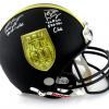 Brett Favre & Peyton Manning Signed Riddell Black Authentic 70K Yards & 500 TDs NFL Helmet with Yardage & TD Inscription LE #44 of 150-0