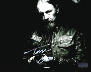 "Tommy Flanagan ""Chibs Telford"" Autographed/Signed Iconic Sons of Anarchy Black & White 8x10 Photo with ""Chibs"" Inscription-0"