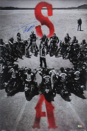 Tommy Flanagan Signed Sons Of Anarchy Circle of Bikes 36x24 Poster-0