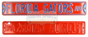 Florida Gators Avenu Officially Licensed Authentic Steel 36x6 Orange & Blue NCAA Street Sign-0