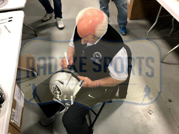 "Fred Biletnikoff Autographed/Signed Oakland Raiders Riddell Full Size NFL Helmet with ""SB XI MVP"" Inscription-32290"