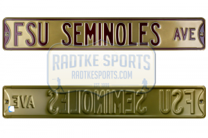 FSU Seminoles Avenue Officially Licensed Authentic Steel 36x6 Maroon & Gold NCAA Street Sign-0