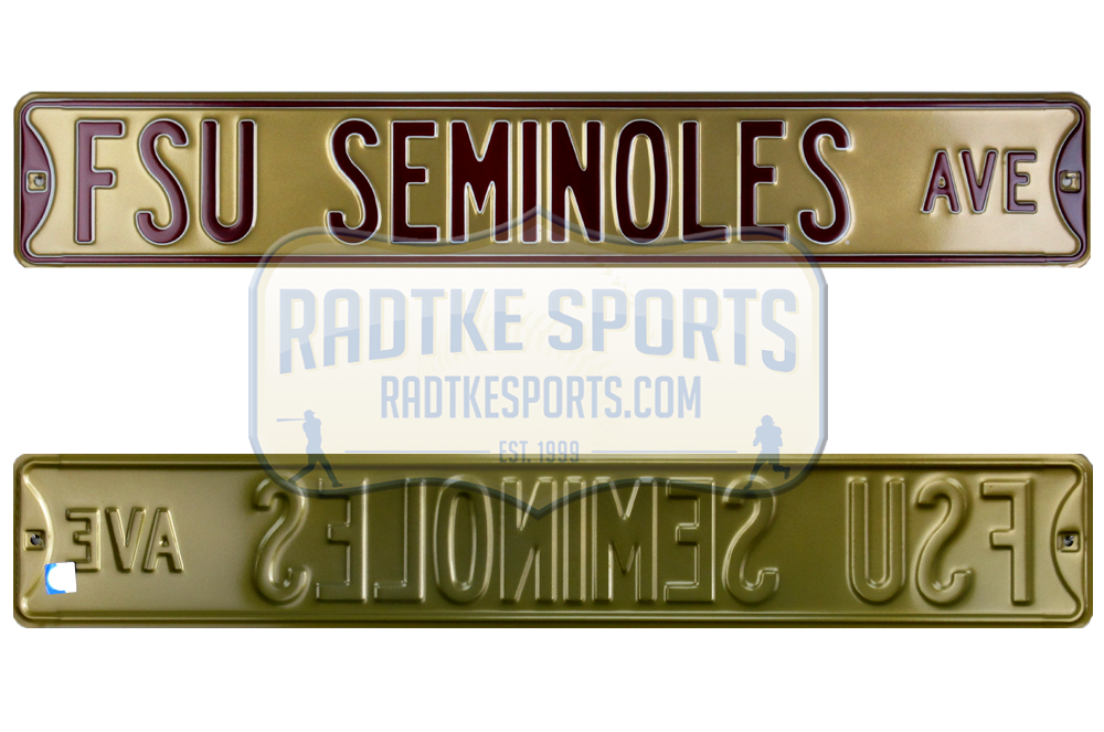 Team Color Authentic Street Signs 70029 Florida State Seminoles Ave Heavy Duty Steel Street Sign 36 x 6