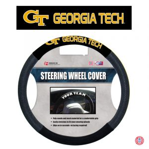 Officially Licensed Georgia Tech NCAA Poly-Suede Steering Wheel Cover-0
