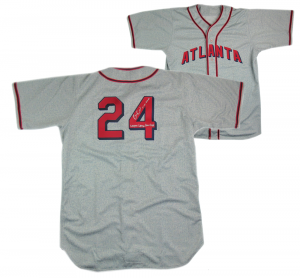 "Evan Gattis Signed Game Used Atlanta Black Crackers Road Jersey with ""El Oso Blanco"" & ""Negro League Game Used""-0"