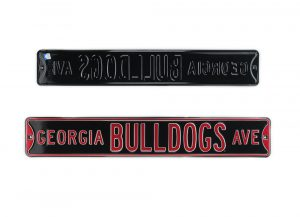 Georgia Bulldogs Avenue Officially Licensed Authentic Steel 36x6 Red & Black NCAA Street Sign-0
