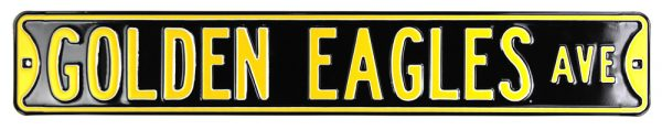 Southern Mississippi Golden Eagles Avenue Officially Licensed Authentic Steel 36x6 Black & Gold NBA Street Sign-19966