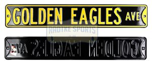Southern Mississippi Golden Eagles Avenue Officially Licensed Authentic Steel 36x6 Black & Gold NBA Street Sign-0