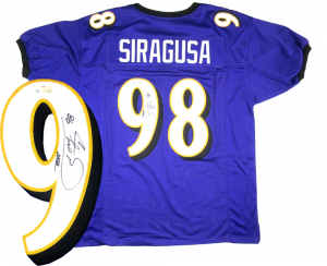 Tony Siragusa Signed Baltimore Ravens Purple Custom Jersey-0