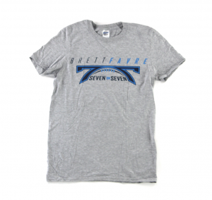 "Official Favre 4 Hope Grey T-Shirt with ""7 on 7""-0"