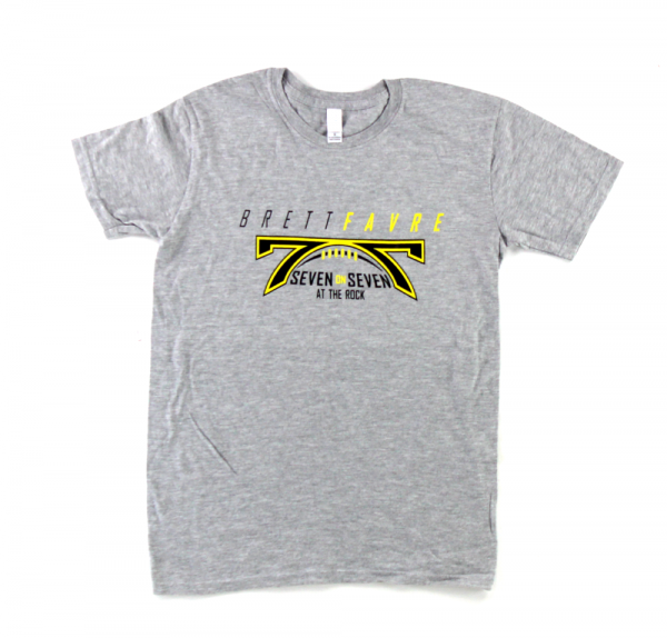"Official Favre 4 Hope Grey T-Shirt With ""7 On 7 at the Rock""-0"