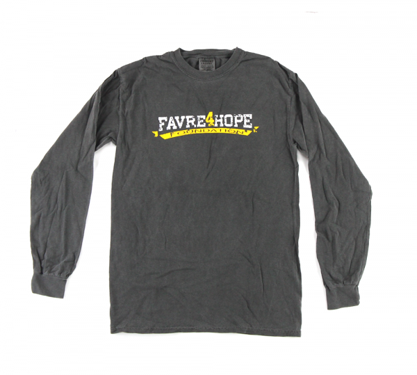 "Official Favre 4 Hope Grey Men's Longsleeve Shirt With ""Favre4Hope Foundation""-0"