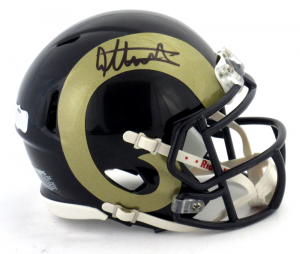 Todd Gurley Signed St Louis Rams Riddell Speed NFL Mini Helmet-0