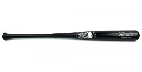 Jason Heyward Authentic Game Used Louisville Slugger M9 Black MLB Bat - Atlanta Braves-13444