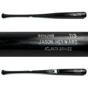 Jason Heyward Authentic Game Used Louisville Slugger M9 Black MLB Bat - Atlanta Braves-0