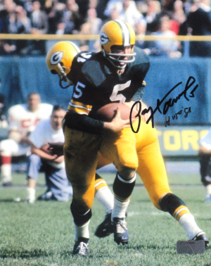 "Paul Hornung Signed Green Bay Packers 8x10 Photo with ""HOF 86"" Inscription-0"
