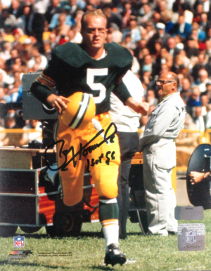 "Paul Hornung Signed Green Bay Packers 8x10 Photo with ""HOF 86"" Inscription - Helmet Off-0"