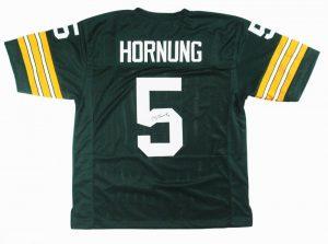 Paul Hornung Signed Green Bay Packers NFL Green Custom Jersey - JSA-0