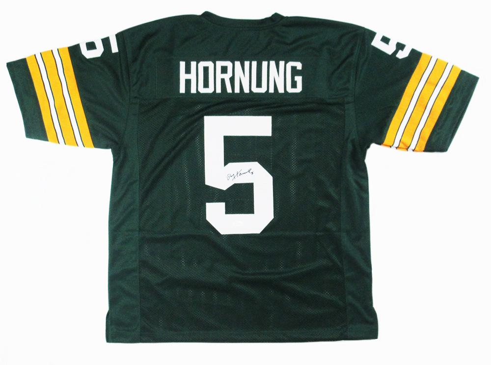 newest 0d06a cff26 Paul Hornung Signed Green Bay Packers NFL Green Custom Jersey - JSA