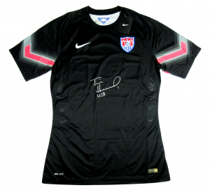 Tim Howard Signed Nike Authentic Dri-Fit US Soccer Black Jersey-0
