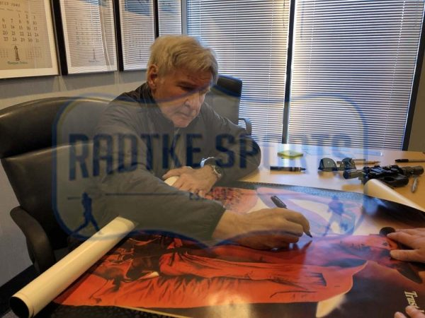 Harrison Ford Signed Indiana Jones And The Temple Of Doom 27x40 Framed Movie Poster-32694
