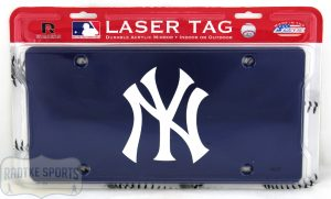 New York Yankees Officially Licensed MLB Laser Tag Mirror License Plate - Blue-0