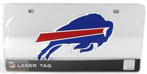 Buffalo Bills Officially Licensed NFL Laser Tag Mirror License Plate -0