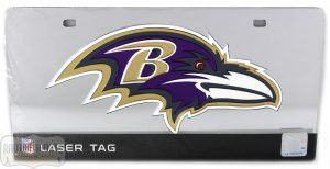 Baltimore Ravens Officially Licensed NFL Laser Tag Mirror License Plate-0