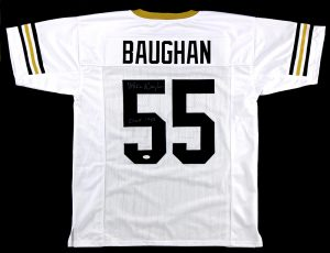 """Maxie Baughan Signed Georgia Tech Yellow Jackets Custom White Jersey With """"CHOF 1988"""" Inscription-0"""