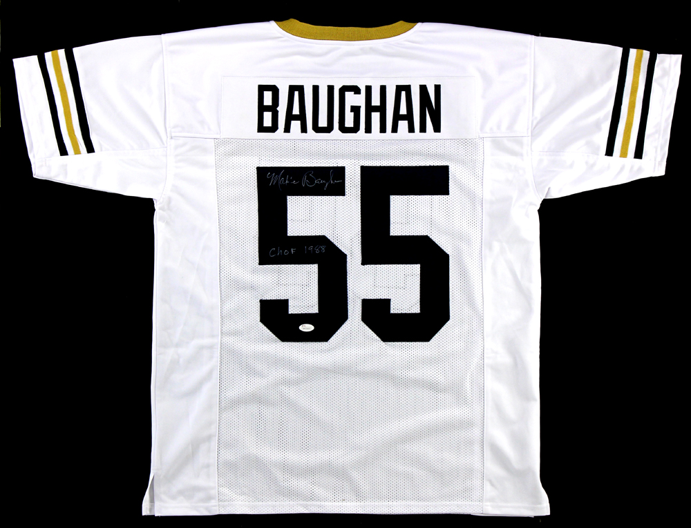 Maxie Baughan Signed Georgia Tech Yellow Jackets Custom White Jersey With