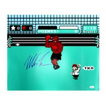 Mike Tyson Signed Nintendo Mike Tyson's Punch Out 16x20 Photo-28428