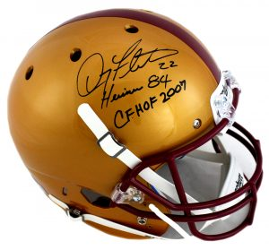 "Doug Flutie Signed Boston College Eagles Schutt Full Size Helmet with ""Heisman 84"" and ""CF CHOF 2007"" Inscription-0"