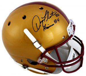 "Doug Flutie Signed Boston College Eagles Schutt Full Size Helmet with ""Heisman 84"" Inscription-0"