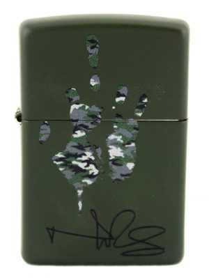 Norman Reedus Exclusive Signature Zippo Lighter Limited Edition - Green Camo-0