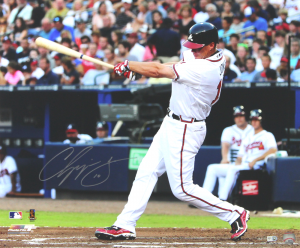 Chipper Jones Signed Atlanta Braves 20x24 Photo-0